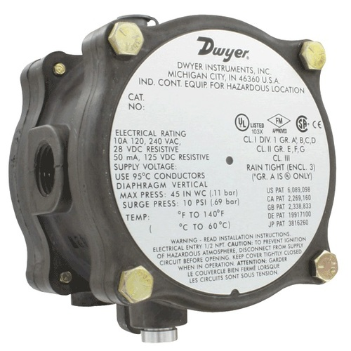 Series 1950G Explosion-proof Differential Pressure Switch