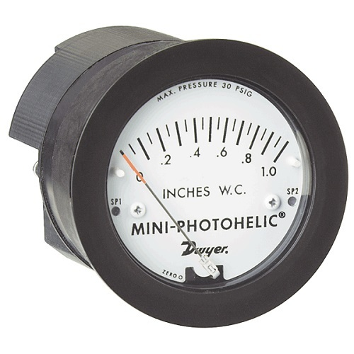 Series MP Mini-Photohelic Differential Pressure Switch/Gage