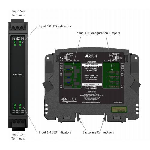 enteliBUS I/O Module eBM-D800