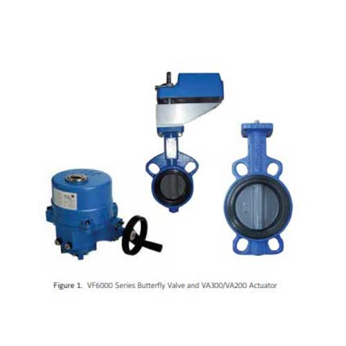 VF6000 Series Butterfly Valve and VA300/VA200 Actuator