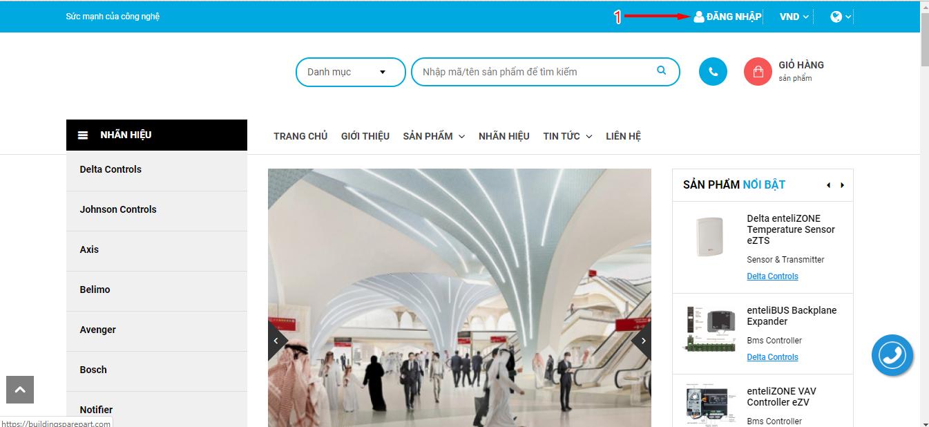 Hướng dẫn đăng nhập và mua hàng trên website buildingsparepart.com